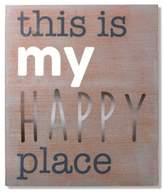 """Wendy Bellissimo Wendy BellissimoTM """"My Happy Place"""" Wood Wall Art"""