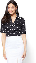 New York & Co. 7th Avenue - Madison Stretch Shirt - Polka-Dot Print