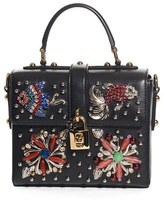 Dolce & Gabbana Soft Embellished Leather Box Bag - Black