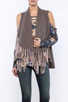 subtle luxury Cashmere Shawl Vest