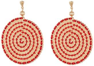 Ettika Threaded Disc Earrings