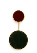 Marni Two-circle resin brooch