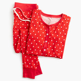 J.Crew Knit pajama set in polka dot