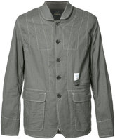 Undercover contrasting stitch jacket - men - Cotton/Linen/Flax/Cupro - 3