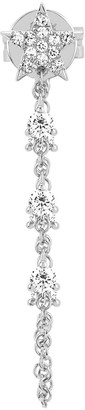 Ef Collection Star Diamond Chain Stud Earring