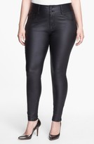 City Chic Plus Size Women's Wet Look Stretch Skinny Jeans