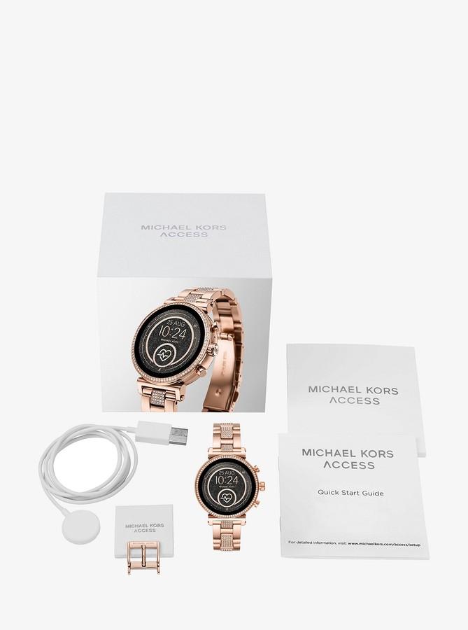 5cfa1de1ce Michael Kors Pave Watch - ShopStyle
