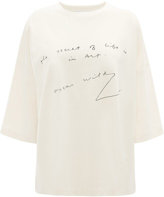 J.W.Anderson Oscar Wilde quote print T-shirt