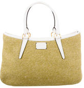 Fendi One + One Drawstring Top Raffia Bag