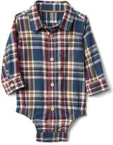 Gap Plaid flannel shirt bodysuit