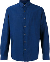 Theory classic long sleeve shirt - men - Cotton/Linen/Flax - S