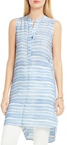 Vince Camuto Sleeveless Abstract Stripe Tunic