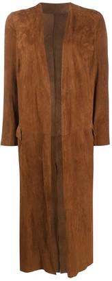 Salvatore Santoro Open Front Leather Coat