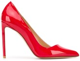 Francesco Russo pointed toe patent leather pumps