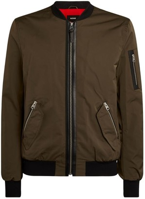 Mackage Leather-Trim Bomber Jacket