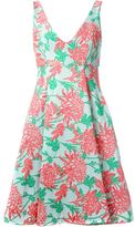P.A.R.O.S.H. floral jacquard flared dress