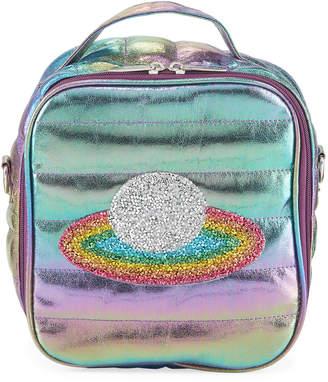 Bari Lynn Kid's Puffy Lunch Box w/ Rainbow Planet Crystal Patch