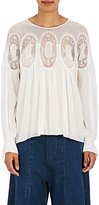 Chloé Women's Lace-Inset Peasant Blouse-WHITE