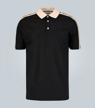 Gucci Polo with Interlocking G stripe