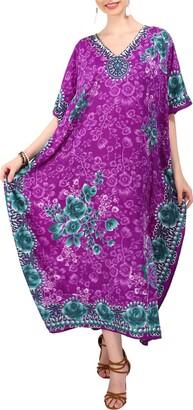 Miss Lavish London Kaftan Dresses - Caftans for Women Long Kimono & Maxi Style Loungewear Teen - Plus Sizes (10-16