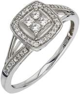 Ice Diamond Ring 1/4 ct tw Princess-cut 10K White Gold