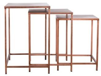 Mercer41 Margr 3 Piece Nesting Tables Color: Copper