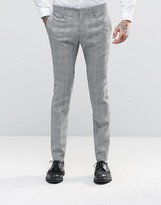 Religion Skinny Prince Of Wales Suit Trousers