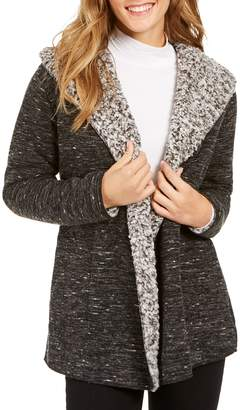 Style&Co. Style & Co. Faux Shearling-Lined Cardigan