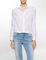 Calvin Klein Slim Boyfriend Button-Down Shirt