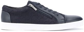 Calvin Klein Monogram-Pattern Sneakers