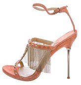 Brian Atwood Suede Chain-Link Sandals