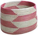 Baby Essentials Charming Floor Bin (Pink Herringbone)