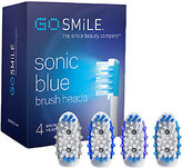 Go Smile Sonic Blue System Replacement Brush Heads - 4-Pack