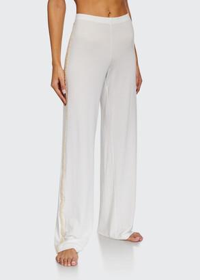 Brenda Lace-Trim Long Pants