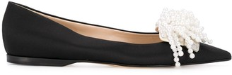 Sergio Rossi x Rosie Assoulin pearl-embellished ballerina shoes