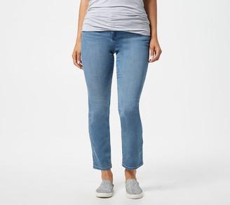 Logo by Lori Goldstein 5-Pocket Straight Leg Jeans