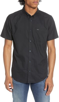 RVCA That'll Do Solid Short Sleeve Button-Down Shirt