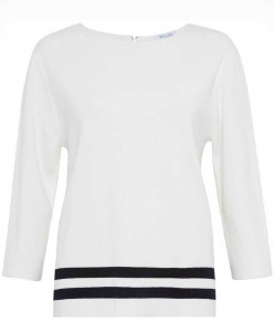 Great Plains Haze Stripe Knit - L - White/Black