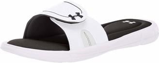 Under Armour Women's Ignite VIII Slide Sandal White (100)/Black 12