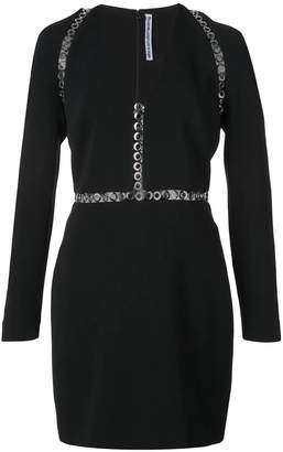 Alexander Wang long sleeve mini dress black