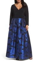Xscape Evenings Plus Size Women's Brocade Gown