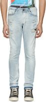 Diesel Blue Destroyed Tepphar Jeans