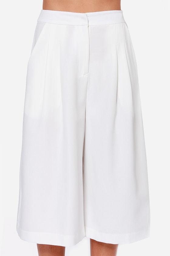 Lush Gaucho Marx Ivory Culottes