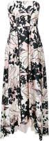 Liu Jo floral flared strapless dress