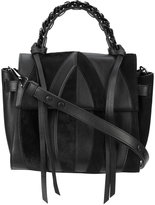 Elena Ghisellini panel design shoulder bag - women - Leather/Calf Hair - One Size