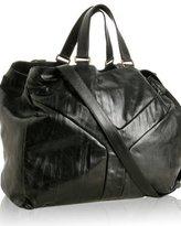 black lambskin 'Y' oversized tote