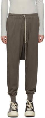 Rick Owens Grey Prisoner Drawstring Lounge Pants