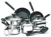 Paula Deen Signature 12-Piece Non-Stick Stainless Steel Cookware Set