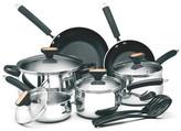 Paula Deen Signature 12-Piece Non-Stick Stainless Steel Cookware Set