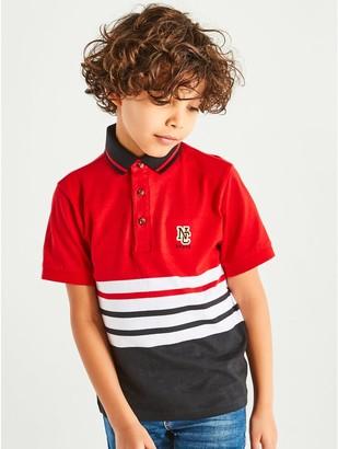 M&Co Stripe polo shirt (3-12yrs)